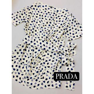 プラダ(PRADA)のプラダ PRADA ワンピース 美品 (ひざ丈ワンピース)