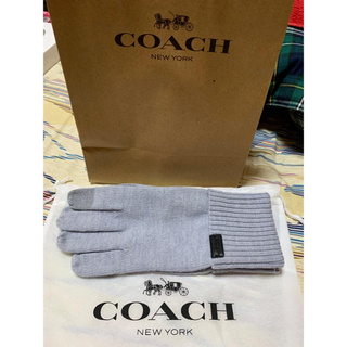 コーチ(COACH)のcoach コーチ 手袋 メンズUS-Sサイズ(JP-L)(手袋)
