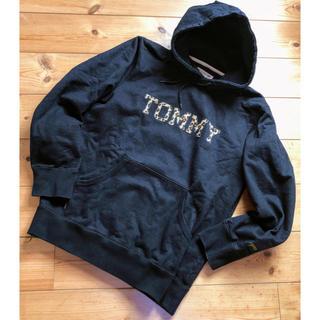 トミー(TOMMY)の即購入OK! トミーヒョウ柄パーカーブラックM美品(パーカー)