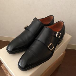 サントーニ(Santoni)のSantoni(サントーニ) ダブルモンク(ブラック) size 6.5(ドレス/ビジネス)