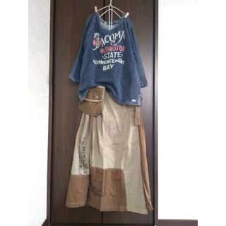 キューブシュガー(CUBE SUGAR)の値下げ❣️【TOBILA】巻きスカート風 ロングスカート(ロングスカート)