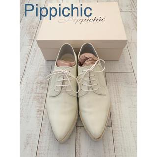 Pippi - Pippichic  レースアップシューズ 白 37.5