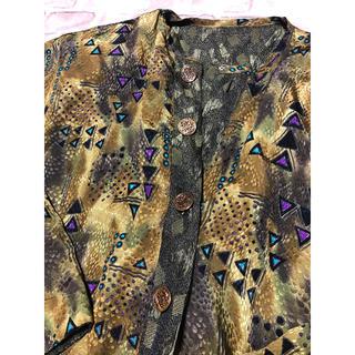 サンタモニカ(Santa Monica)のused Vintage リバーシブル 総柄 デザイン ジャケット 羽織り(その他)