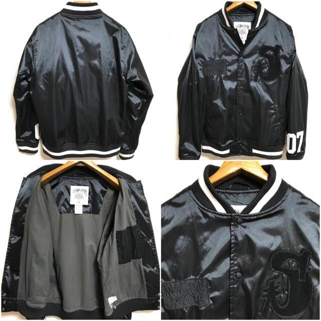 STUSSY(ステューシー)の美品!STUSSY ステューシー KNOWLEDGE IS KING スタジャン メンズのジャケット/アウター(スタジャン)の商品写真