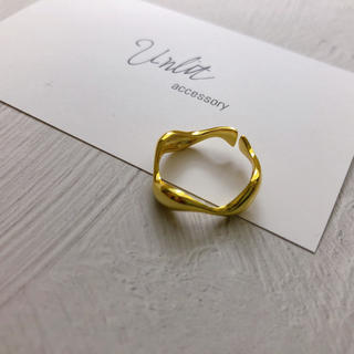wave ring(gold)(リング(指輪))