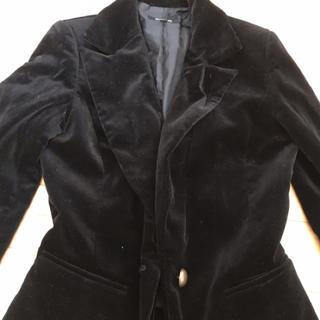 オゾック(OZOC)のozocベロアジャケット 黒 Sサイズ(テーラードジャケット)