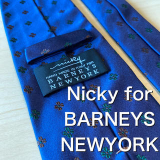 BARNEYS NEW YORK - Nicky for BARNEYS NEWYORK パープル小紋ネクタイ