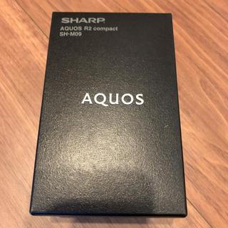 シャープ(SHARP)のAQUOS R2 compact  SH-M09 シャープ ピュアブラック 黒(スマートフォン本体)