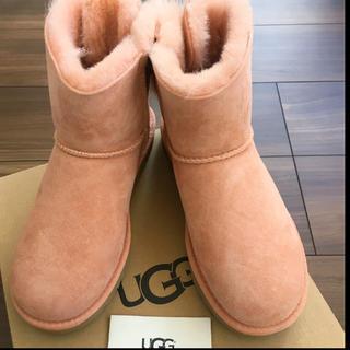 アグ(UGG)の19日まで【匿名配送】UGG ブーツ ムートンブーツ ピンク リボン(ブーツ)