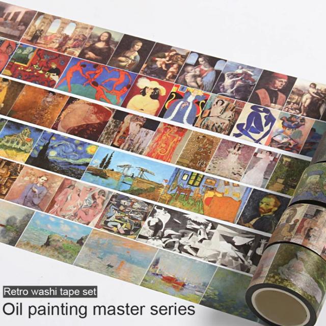 レオナルドダヴィンチの有名な絵画のマスキングテープ インテリア/住まい/日用品の文房具(テープ/マスキングテープ)の商品写真