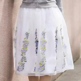 トッコ(tocco)の【新品】トッコクローゼット 刺繍オーガンジースカート ノエラ スナイデル(ひざ丈スカート)