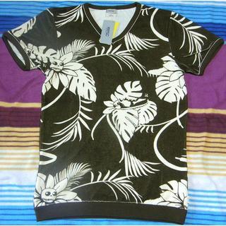 ウィーエスシー(WeSC)の新品 WESC パイルTシャツ カートゥンボタニカル柄 EU XS ポルトガル製(Tシャツ/カットソー(半袖/袖なし))