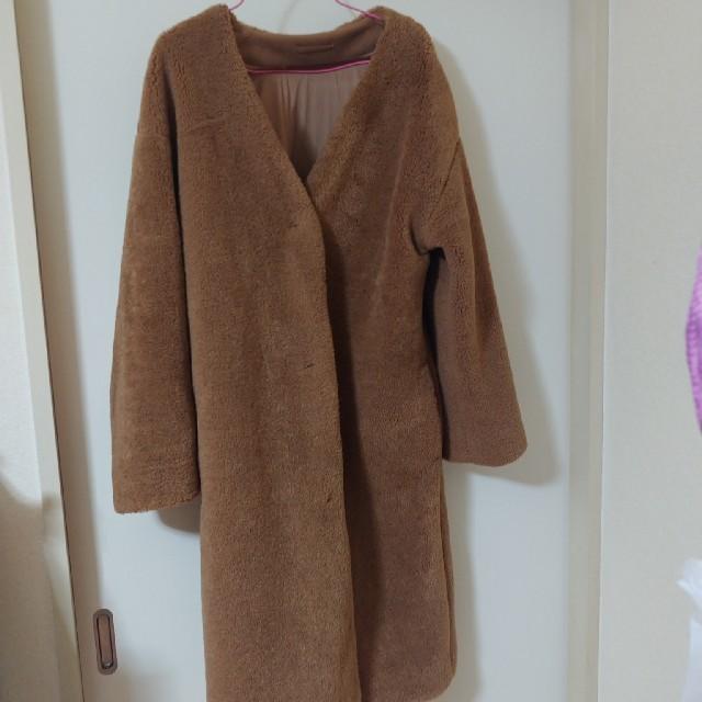 GU(ジーユー)のGUボアコート レディースのジャケット/アウター(ロングコート)の商品写真