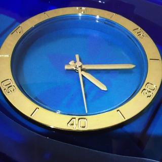 アディダス(adidas)の限定非売品 adidas アディダス 壁掛時計 ビッグな腕時計 レア ブルー(掛時計/柱時計)