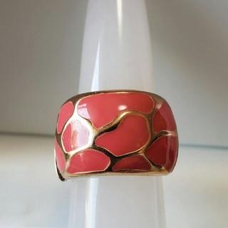 ファッションリング 七宝 ピンク フリー(リング(指輪))