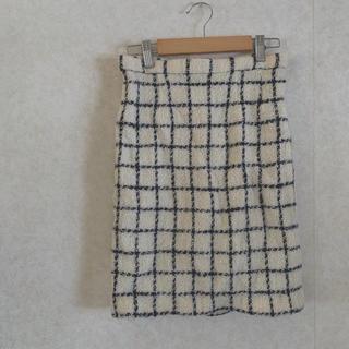 ロキエ(Lochie)のvintage check skirt(ひざ丈スカート)