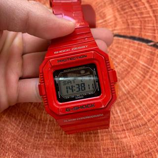ジーショック(G-SHOCK)の超希少!廃盤!GLX-5500A 赤 レッド(腕時計(デジタル))