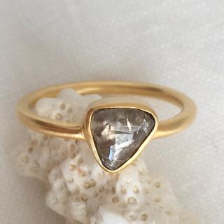 K14 マクル ブラウンナチュラルダイヤモンド リング インドジュエリー (リング(指輪))