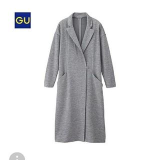 GU - 新品タグ付き!GUロングチェスターコートS グレー
