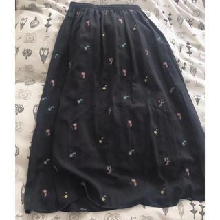 エージーバイアクアガール(AG by aquagirl)のaquagirl 刺繍スカート(ロングスカート)