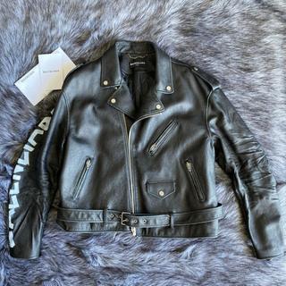 バレンシアガ(Balenciaga)のBALENCIAGA レザーライダースジャケット 18AW 新品 半額以下(ライダースジャケット)