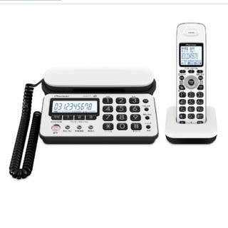 パイオニア(Pioneer)のパイオニア コードレス留守番電話機 子機1台付 ピュアホワイト 説明書箱付き(その他)