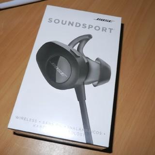 ボーズ(BOSE)の新品未使用 Bose SoundSport イヤフォン ワイヤレス イヤホン(ヘッドフォン/イヤフォン)