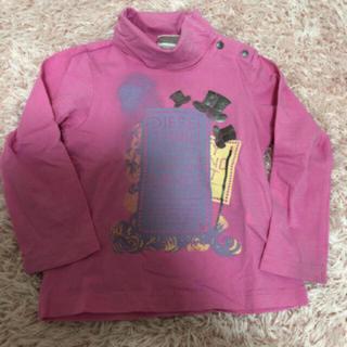 ディーゼル(DIESEL)のディーゼル 80センチ 12M タートルネック ロンT 長袖 柔らか ピンク (Tシャツ)
