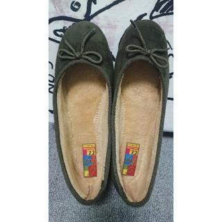 ジャーナルスタンダード(JOURNAL STANDARD)の秋冬・ペタンコ靴・23,5・37・カーキ(バレエシューズ)