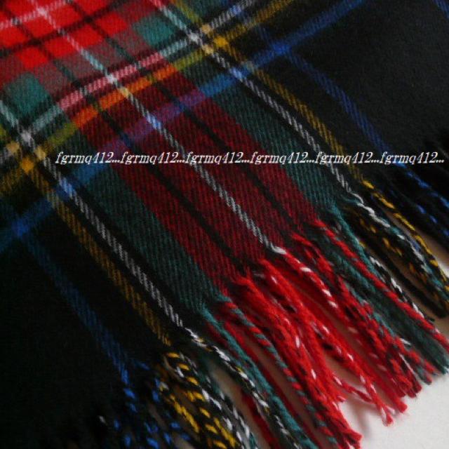 DEUXIEME CLASSE(ドゥーズィエムクラス)の★新品 ドゥーズィエムクラス カシミヤ混 大判マフラーストール ブラックチェック レディースのファッション小物(マフラー/ショール)の商品写真