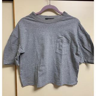 オオシマレイ(OSHIMA REI)のOSHIMA REI  ポケットTシャツ  グレー(Tシャツ(半袖/袖なし))