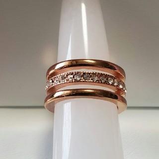 ファッションリング ピンクゴールド 3連リング (リング(指輪))