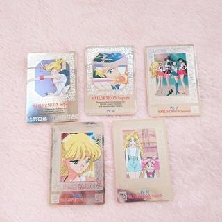 セーラームーン(セーラームーン)の美少女戦士セーラームーン*カードダス*5枚(カード)
