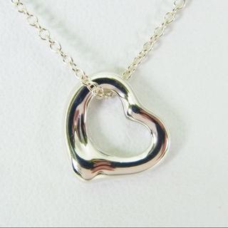 ティファニー(Tiffany & Co.)のティファニー 925 オープンハート ネックレス[g150-10](ネックレス)