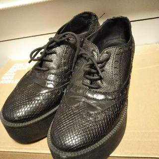 バーニーズニューヨーク(BARNEYS NEW YORK)の値下げ‼️バーニーズニューヨーク  厚底シューズ(ローファー/革靴)