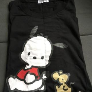 サンリオ - ポチャッコ 半袖 Tシャツ プリント 黒 ブラック