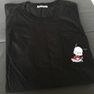 サンリオ - ポチャッコ 半袖 Tシャツ 刺繍 ししゅう 黒 ブラック