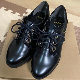 ヘザー(heather)のHeather*ロゴリボンマニッシュシューズ(ローファー/革靴)