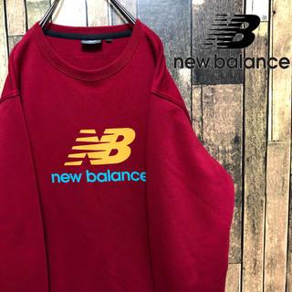 ニューバランス(New Balance)のニューバランス ビッグロゴ スウェット Lサイズ レッド(スウェット)