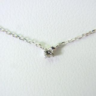 ヨンドシー(4℃)の4℃ K10WG ダイヤモンド ペンダント[g151-8](ネックレス)