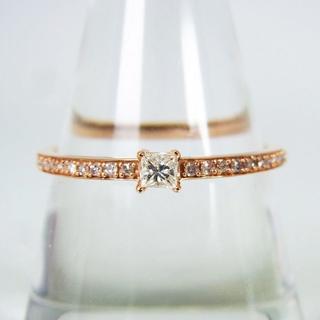 K18ピンクゴールド ダイヤモンド リング 19号 [g152-4](リング(指輪))