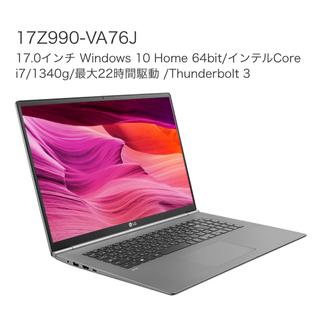 エルジーエレクトロニクス(LG Electronics)のLG gram 17インチ 17Z990-VA76J 16GBメモリ(増設済)(ノートPC)
