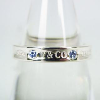 ティファニー(Tiffany & Co.)のティファニー 925 サファイア ナロー 1837リング 15号[g152-6](リング(指輪))