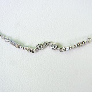 K18WG ダイヤモンド ネックレス[g152-7] (ネックレス)