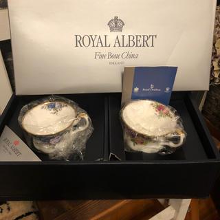 ロイヤルアルバート(ROYAL ALBERT)のロイヤルアルバートティーカップ&ソーサー2客(食器)