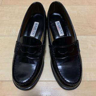ハルタ(HARUTA)のHARUTA ローファー 24㎝EEE 黒(ローファー/革靴)