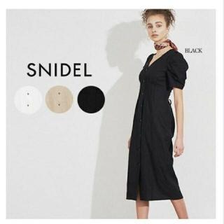 スナイデル(snidel)のSNIDEL リネンミディタイトワンピース(ロングワンピース/マキシワンピース)