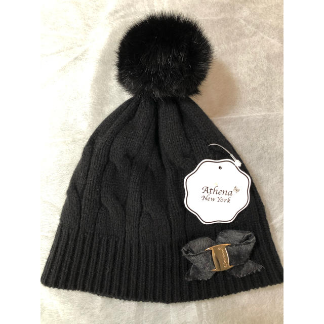 BARNEYS NEW YORK(バーニーズニューヨーク)の新品 タグ付 アシーナニューヨーク ニット帽 レディースの帽子(ニット帽/ビーニー)の商品写真