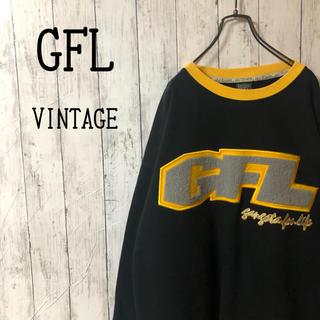 【超激レア】USA製 GFL☆ビッグワッペンロゴ 刺繍 ビッグサイズスウェット(スウェット)