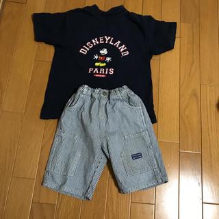 ディズニー(Disney)のパリディズニーTシャツと普通パンツセット95センチ(Tシャツ/カットソー)